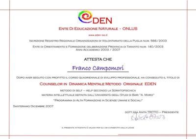 Franco Campomori EDEN Ente di Educazione Naturale