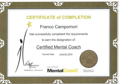 Franco Campomori Certified Mental Coach